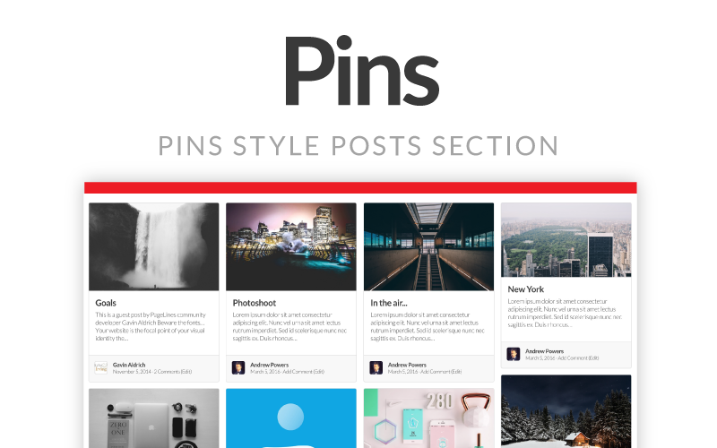Pins Splash